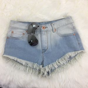 Bullheaded Denim Co Jean High Waist Mom Shorts
